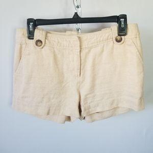 4/$20 F21 Unlined Linen Blend Shimmer Shorts L